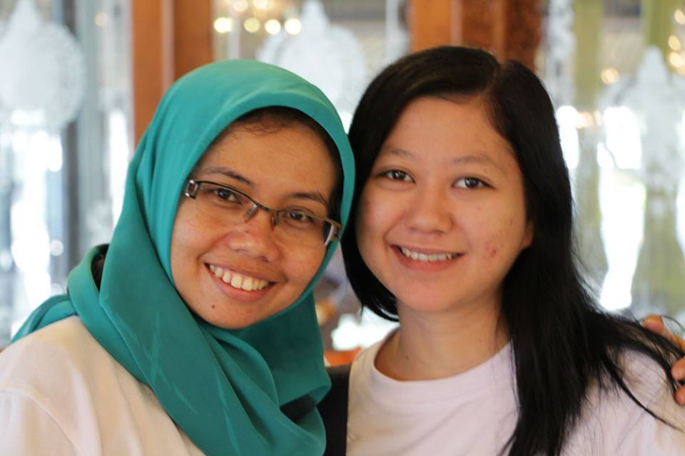 With Evi (Pic by Babeh Helmi)
